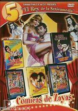 """""""El Rey de La Sexycomedia""""  5 Peliculas En 1 Tres Mexicanos Muy Ardientes ,DVD"""