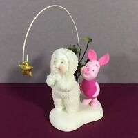 Snowbabies And Piglet Wish Upon A Star Dept 56 Bisque Porcelain Figurine Disney