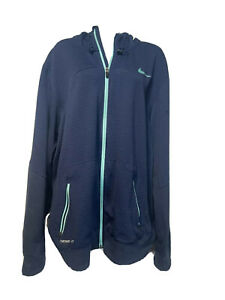 nike therma fit Blue Textured full zip hoodie womens size XXL