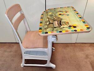 Vintage Metal/Wood SCHOOL DESK/CHAIR Hybrid SEAT for Kids