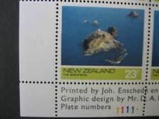 Nueva Zelanda 1974 23c los hermanos placa bloque defectuoso último número NHM SG1064