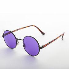 John Lennon Round Color Lens Vintage Sunglasses Black/Purple 1990s - Dylan