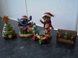 Rare bundle Of Disney Stitch Figures Lilo stitch & scrump Christmas themed