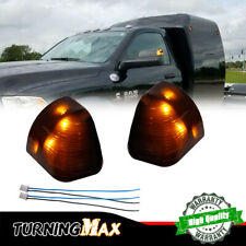 2x Smoked Amber LED Lamps For 11-17 Ram 1500 2500 3500 Side Mirror Signal Lights
