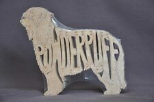 Powderpuff Chinese Crested Crestie Dog Wood Amish Toy  Puzzle