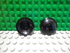 Lego 2 Black 3x3 deep round inverted radar dish NEW