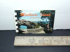 Vintage Miniature Color Postcard Picture Book Mackinac Island 1963 ~ FREE SHIP