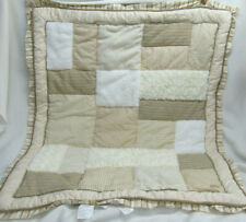 Cocalo Baby Blanket Crib Quilt Patchwork Brown Beige