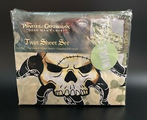 RARE Disney Pirates Of The Caribbean Twin Sheet Set NEW OLD STOCK Dead Man's