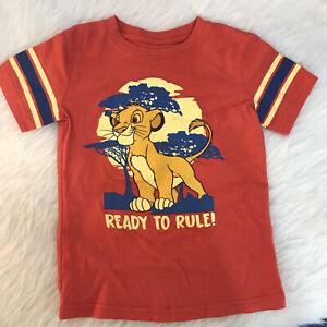 Disney Boys' Lion King Shirt Size 4 Young Simba T-Shirt Ready To Rule Orange