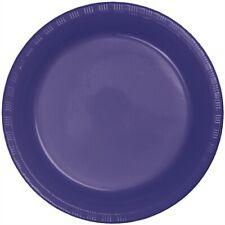 """Purple 9"""" Plastic Plates 20 Per Pack Purple Decorations & Party Supplies"""