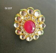 Indian Fashion Jewelry Gold Plated Wedding Crystal Fancy Adjustable Finger Rings