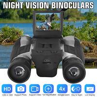Digital 12X Binocular Telescope Video Camera LCD Zoom Record Screen Night Vision