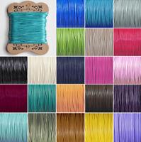 1,5 Ø mm Runde gewachste Polyester Schnur Seil Kordel - auch mit Seide
