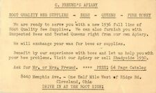 C. Freund's Apiary, Advertising PC, 8440 Memphis Ave, Cleveland, Ohio OH 1936