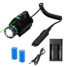 Green Red Laser Combo LED Flashlight 20mm Mount Light 500 Lumens