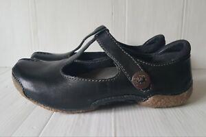 Ladies CLARKS ACTIVE AIR Size 4.5 D Black Leather Low Flat Comfort Shoes