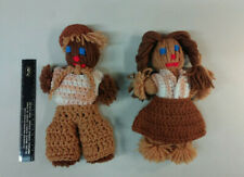 Dolls - Little Boy and Little Girl - Yarn - Handmade - Unique - Must See