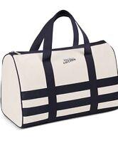 Jean Paul Gaultier Canvas Duffle Tote large Navy Weekender Gym Travel Bag blue