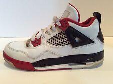 Nike Air Jordan IV 4 Retro White/Varsity Red-Black Fire Red GS 408452-110 SZ 5.5