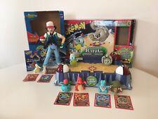 Pokemon Hasbro ThinkChip Lot of Battle Stadium Playset and Ash & Cyndaquil Toy