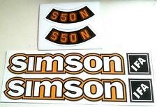 simson 6 teiliger aufklebersatz ocker  IFA S 50 N  aufkleber sticker = ddr stil