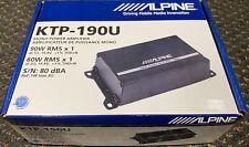 Alpine KTP-190U Mono Power Pack Subwoofer Amplifier 60W RMS x 1 at 2 ohms