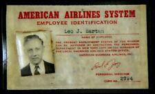 VINTAGE AMERICAN AIRLINES ID BADGE BADGE PIN