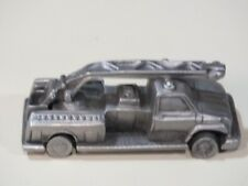collectible Rawcliffe Pewter fire engine ladder truck with moving wheels