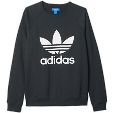 adidas Originals Sports Crew Men's Sweatshirt Pullover Trefoil Jumper Sweater Black Ay7791 L