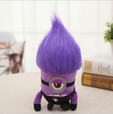 20cm (7in) DESPICABLE ME PURPLE EVIL MINION SINGIE EYED PLUSH TOY DOLL