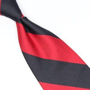 VTG Brooks Brothers Mens Silk Necktie Navy Blue Red Block Stripe Tie USA