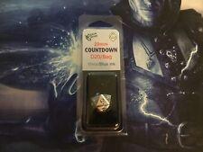 D&D & MtG: 22mm Zinc Metal Alloy Countdown D20 Dice w/Black Bag - Blue Numbers