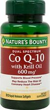 Dual Spectrum Co Q-10 with Krill Oil 600 mg x 30 Softgels