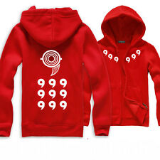 Anime Naruto Logo Hoodie Zipper Coat Cotton Sweat Shirt Unisex Size M-XXXL HOT
