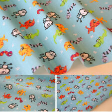 Zoo Animals Fabric - Children's Nursery Kids Poly COTTON per Metre