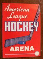 St. Louis Flyers Cleveland Barons Program 1952-53 Hockey St. Louis Arena Blues