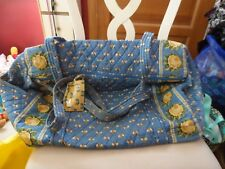 Vera bradley large duffel bag in retired Blue Bees Pattern