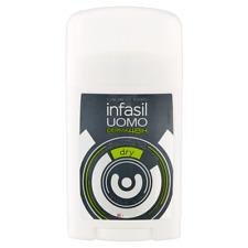 6 X Infasil Uomo Derma48H Dry Deodorante Stick 40 ml