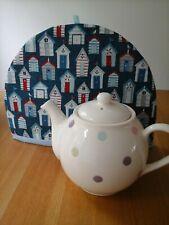 Tea cosy, tea pot cosy, large tea cosy, tea cosies, handmade, seaside, beach hut