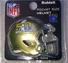 NFL AMERICAN FOOTBALL SUPER BOWL 50 RIDDELL POCKET SPEED HELMET SEALED PACK