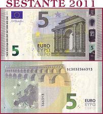 """(com) EUROPEAN UNION - ITALY 5 EURO 2013 Sign DRAGHI  """"SC""""  S003C4 - P 20s - UNC"""