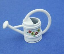Miniature Dollhouse White Watering Can 1:12 Scale New
