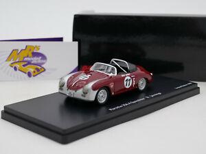 """Schuco Pro.R43 08835 # Porsche 356 A Speedster Nr.77 """" Bruce Jennings """" 1:43 RAR"""