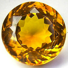 Masterpiece Collection: Round Faceted Genuine (Natural) Golden Citrine (2-7mm)