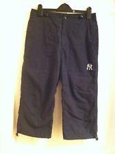 NY New York Yankees Blu Scuro Corto Pantaloni Donna-Taglia S