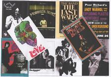 10 POSTCARDS. NEIL YOUNG, DOORS, VELVET UNDERGROUND, The BAND,  BYRDS, DYLAN +6
