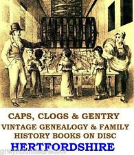 Hertfordshire Herts Genealogy History Topography 31 Vintage Books on a Data Disc