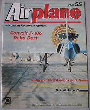 Airplane Issue 55 Convair F-106 Delta Dart Cutaway drawing & Poster