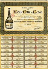 """""""VIEILLE CURE de CENON"""" Action originale entoilée de 1910 Litho  37x49cm"""